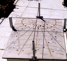 Horizontal bifilar sundial made by J Pakhomoff