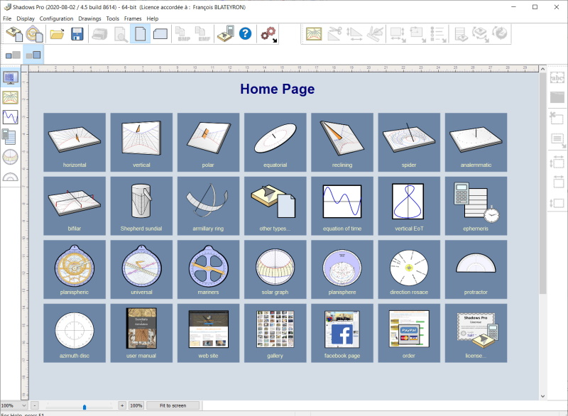 Shadows software home page