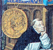 Detail showing a planispheric astrolabe